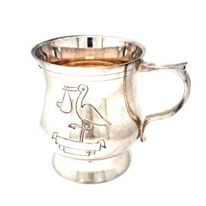 Leon Bakers Infant Pewter Stork Mug_0