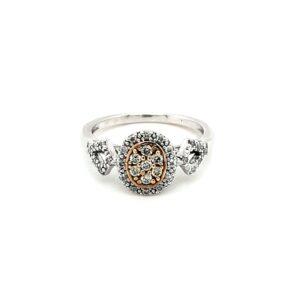 Leon Bakers 9K Two-Tone Diamond Set Ring_0