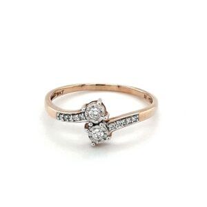Leon Bakers 9K Yellow Gold Diamond Engagement Ring_0