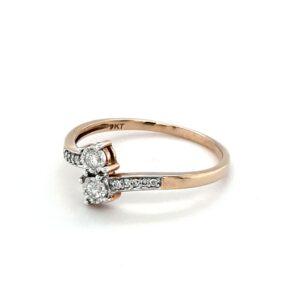 Leon Bakers 9K Yellow Gold Diamond Engagement Ring_1