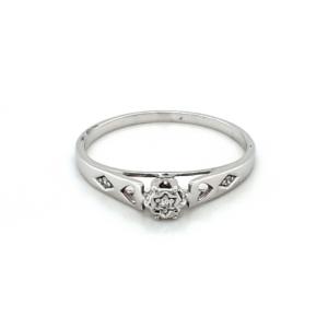 Leon Bakers 9K White Gold Diamond Set Ring_0