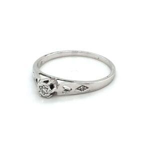 Leon Bakers 9K White Gold Diamond Set Ring_1