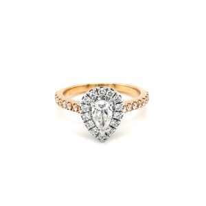 Leon Bakers 18K Two-Toned Pear Shaped Diamond Engagement Ring_0