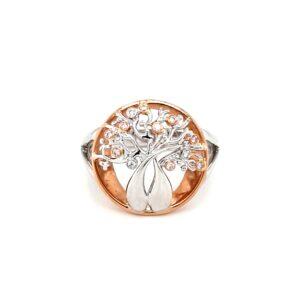 Argyle 18K Australian Boab Tree Ring with Pink and White Diamonds_0