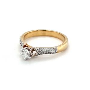 Royal Diamond 9K Yellow Gold Diamond Engagement Ring_1