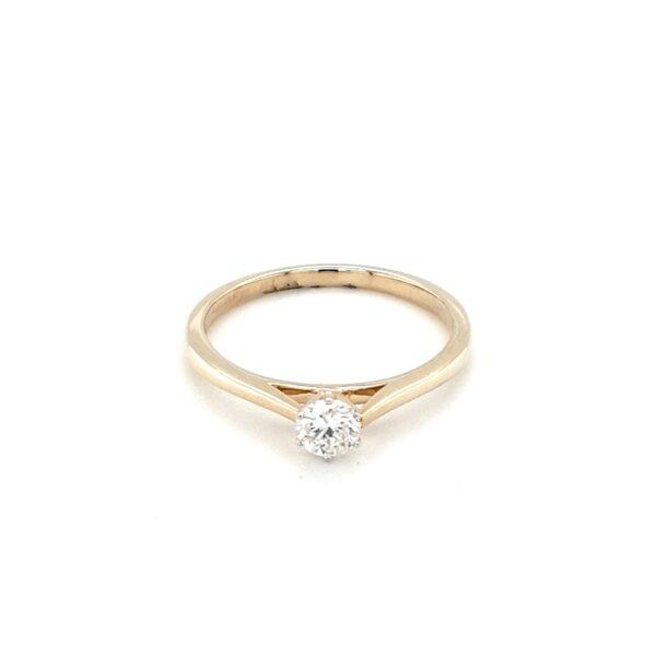 Royal Diamond 9K Yellow Gold Engagement Ring_0