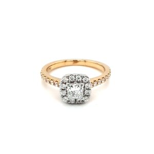Leon Bakers 18K Yellow and White Gold Princess Cut Engagement Ring_0