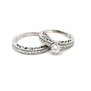 Leon Bakers 18K White Gold Wedding Set_1