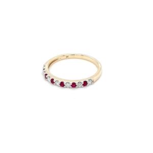 Royal Diamond 9K Yellow Gold Ruby and Diamond Ring_1