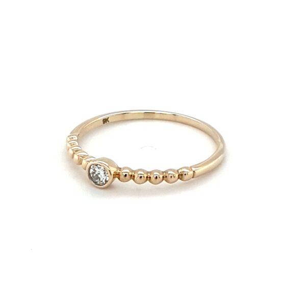 Royal Diamond 9K Yellow Gold 0.08ct Diamond Engagement Ring_1