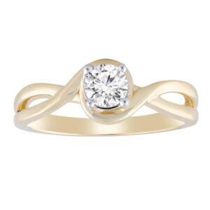 Royal Diamond Split Wave Ring_0