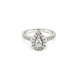 Leon Bakers 18K White Gold Diamond Engagement Ring_0