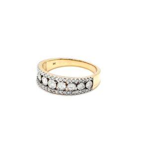 Royal Diamond 8K Yellow Gold Diamond Ring_1