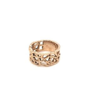 Coral Bay Collection 9K Yellow Gold Coral Ring_1
