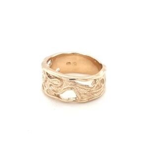 Leon Baker 9K Molten Dress Ring_0