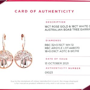 Argyle 18K Australian Boab Tree Earrings with White and Pink Diamonds_1
