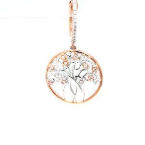 Argyle 18K Australian Boab Tree Pendant with Pink and White Diamonds_0