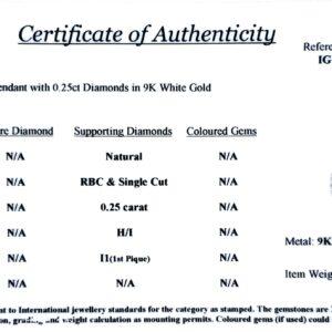 Royal Diamond 9K White Gold and Diamond Teardrop Pendant_1