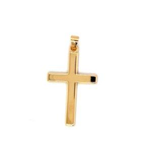 Leon Baker 9K Yellow Gold Cross Pendant_0