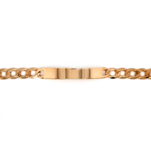 Leon Baker 9K Yellow Gold ID Curb Chain Bracelet_0