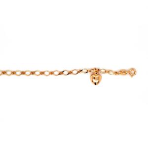 Leon Baker 9K Yellow Gold Bracelet with Heart Charm_0