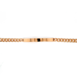 Leon Baker 9K Yellow Gold ID Curb Bracelet_0