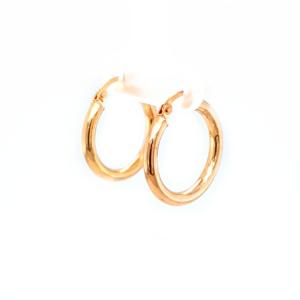 Leon Baker 9k Yellow Gold Polished Hoop Earrings_1