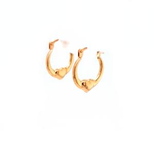 Leon Baker 9K Yellow Gold Heart Hoop Earrings_1