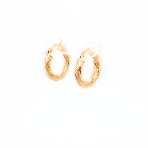 Leon Baker 9K Yellow Gold Hoop Earrings_1