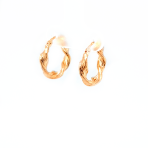Leon Baker 9K Yellow Gold Ribbon Twist Earrings_1