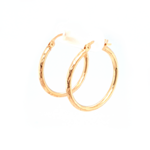 Leon Baker 9K Yellow Gold Diamond Cut Hoops_1