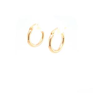 Leon Baker 9K Yellow Gold Plain Hoops_1