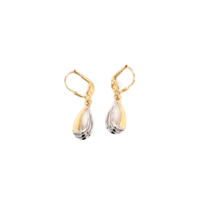 Leon Baker 9K Yellow and White Gold Drop Earrings_0