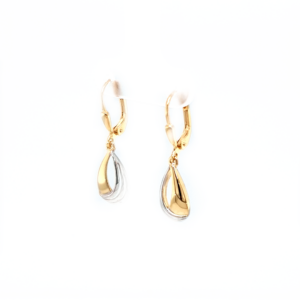 Leon Baker 9K Yellow and White Gold Drop Earrings_1