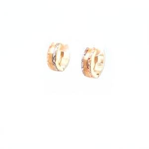Leon Baker 9K Tri Tone Huggie Earrings_1
