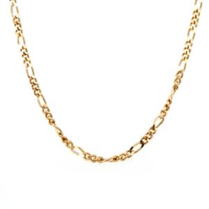 Leon Bakers 9k Yellow Gold 1+3 Figarro Chain_0