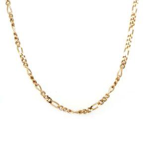 Leon Baker 9K Yellow Gold Figaro 3+1 Chain_0