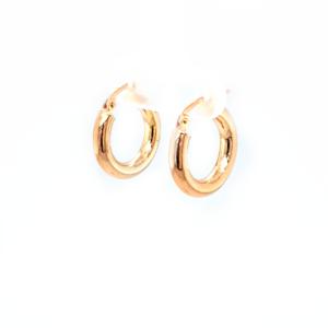 Leon Baker 9k Yellow Gold 10mm Hoop Earrings_1