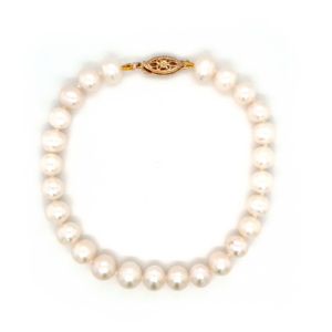 Leon Baker Freshwater Pearl Bracelet with 9K Yellow Gold Clasp_0