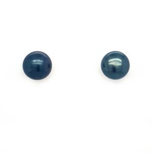 Leon Baker Sterling Silver Black Freshwater Pearl Earrings_0
