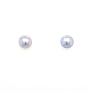 Leon Baker Sterling Silver and Grey Freshwater Pearl Earrings_0