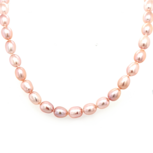 Leon Baker Pink Freshwater Pearl Necklace with Sterling Silver Clasp_0