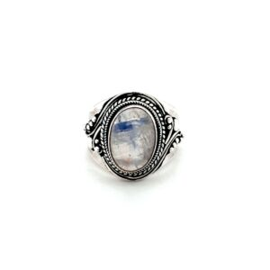 Leon Baker Sterling Silver and Moonstone Ring_0