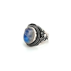Leon Baker Sterling Silver and Moonstone Ring_1