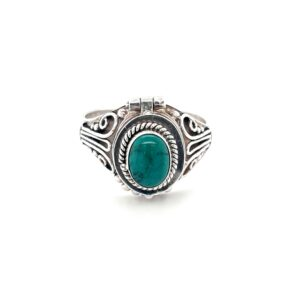 Leon Baker Sterling Silver and Turquoise 'Poison Ring'_0