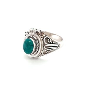 Leon Baker Sterling Silver and Turquoise 'Poison Ring'_1