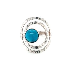 Leon Baker Sterling Silver and Turquoise Ring_0