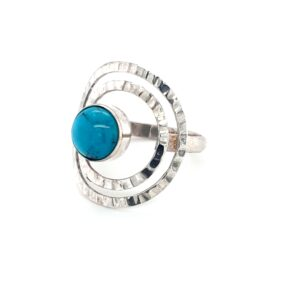 Leon Baker Sterling Silver and Turquoise Ring_1