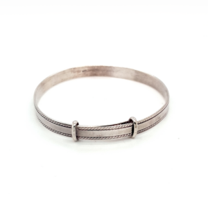 Leon Baker Sterling Silver Expandable Baby Bangle_0