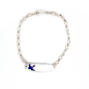 Blue Bird Sterling Silver Baby ID Bracelet_0